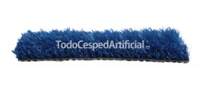 cesped artificial azul