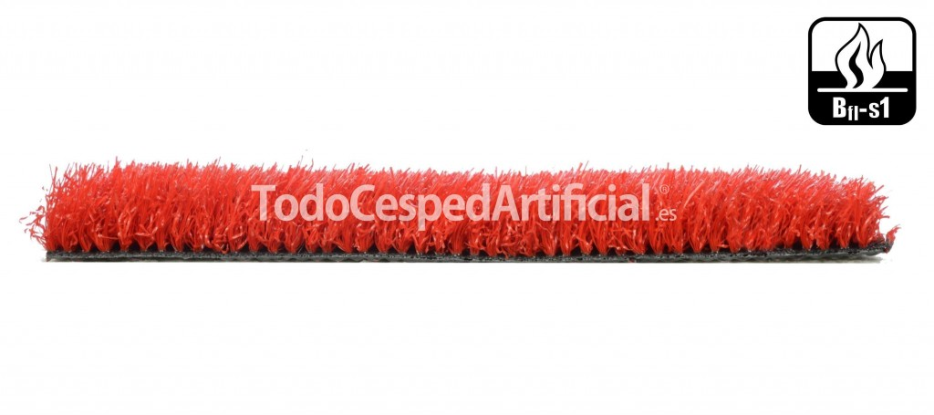 cesped artificial color rojo