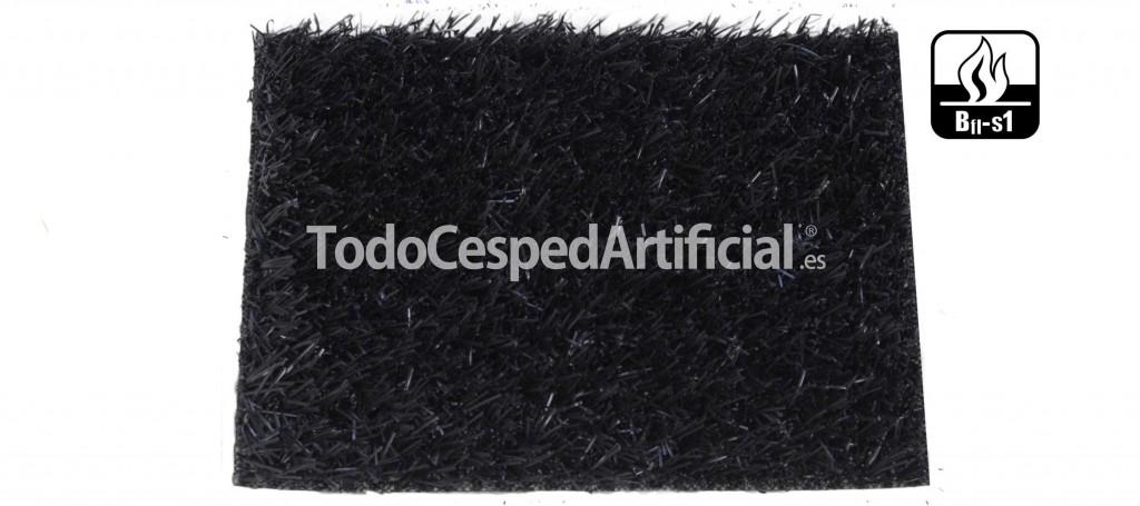 Césped artificial de color negro