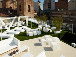 instalacin csped artificial zona chill out terraza gymage madrid
