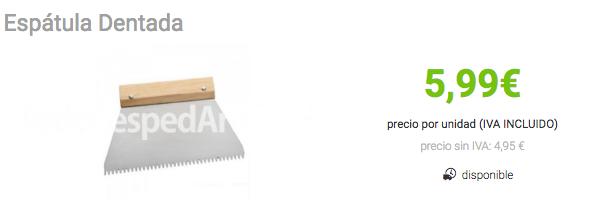 accesorios para instalar cesped artificial- espatula dentada