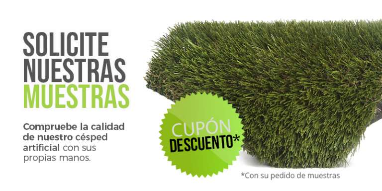 muestras de cesped artificial