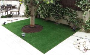 instalacion de cesped artificial en madrid jardin pequeno